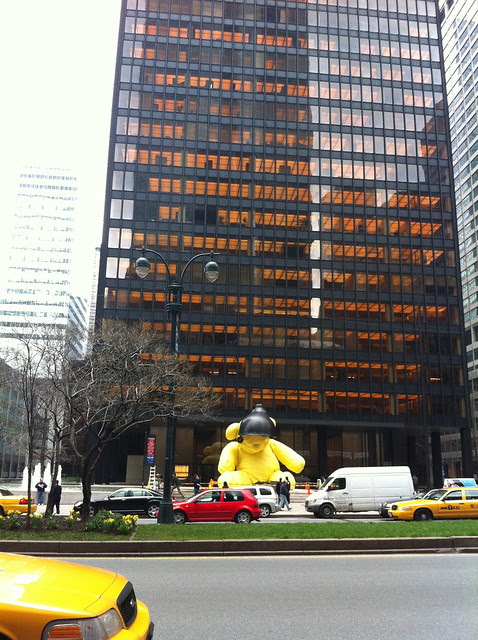 Fischer Bear/Lamp, Seagram Plaza