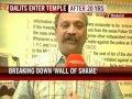 Dalits enter Hindu temple