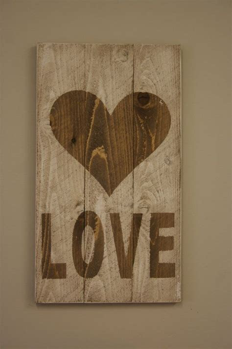 Rustic LOVE Valentine Sign Wedding Decor Pallet Sign