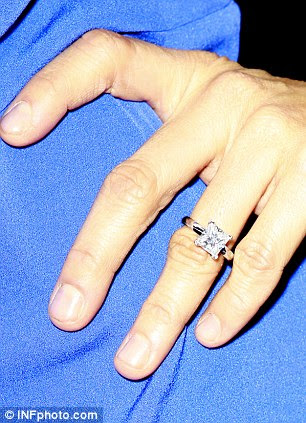 Ring-a-ding-ding: Sloane presented the 43-year-old with a stunning sparkler