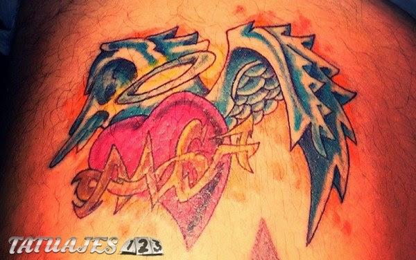 Corazon Con Alas Tattoo