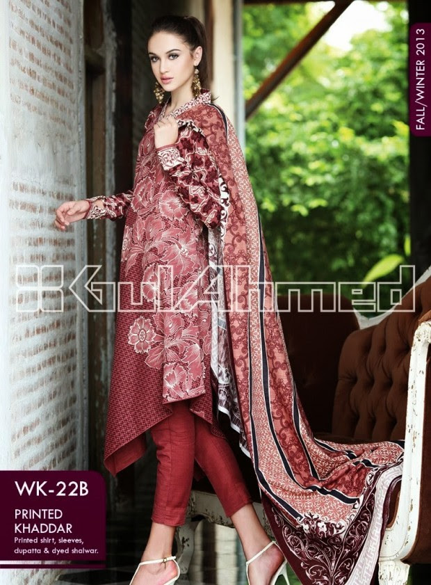 Beautiful-Cute-Girls-New-Fashionable-Dress-Design-by-Gul-Ahmed-Fall-Winter-Collection-2013-14-8