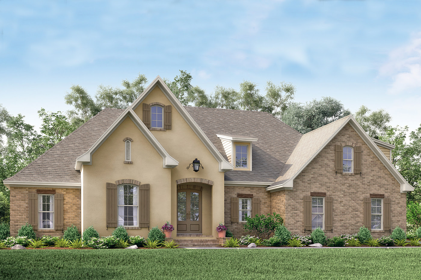 Acadian House Plan 1421154: 4 Bedrm, 2210 Sq Ft Home Plan