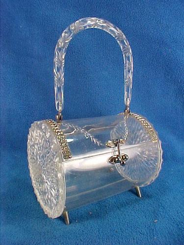 Lucite Plastic Rialto Barrel Handbag Purse | eBay