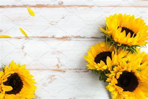 Yellow Sunflower Bouquet ~ Nature Photos ~ Creative Market
