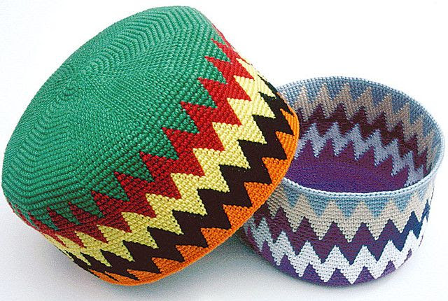 More Tapestry Crochet Hats/Baskets | Flickr - Photo Sharing!