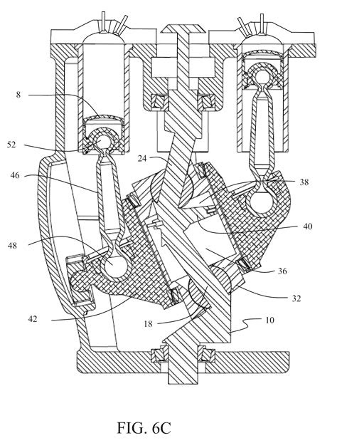 Patent US8511265 - Variable stroke and compression ratio