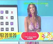 Sara Santos super sensual no programa Beach Party
