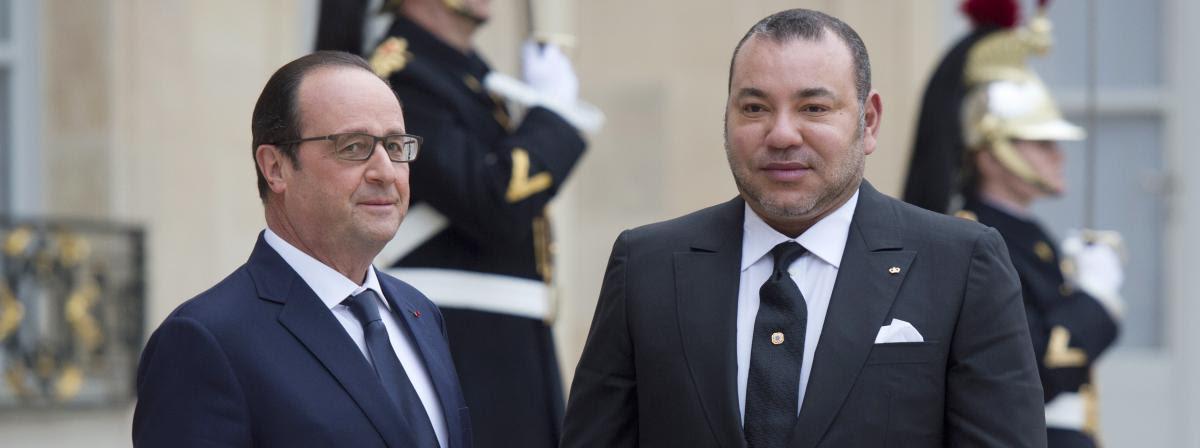 Le président français, François Hollande, et le roi du Maroc, Mohammed VI, le 9 février 2015 à l'Elysée.