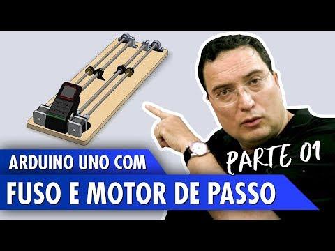 Arduino Uno com fuso e motor de passo