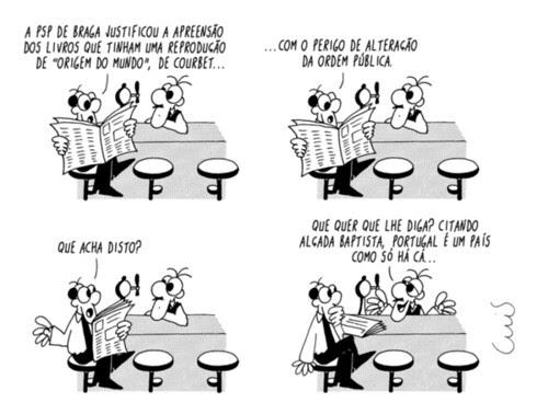 Cartoon do Jornal Público sobre o Caso Coubert
