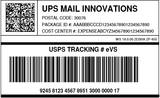 UPS Mail Innovations IMpb   UPSMI   BarcodeFAQ.com