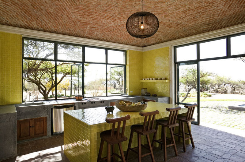 mediterranean kitchen by David Howell Design