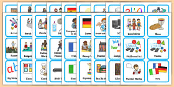 Visual Timetables Primary Resources, visual - Page 1