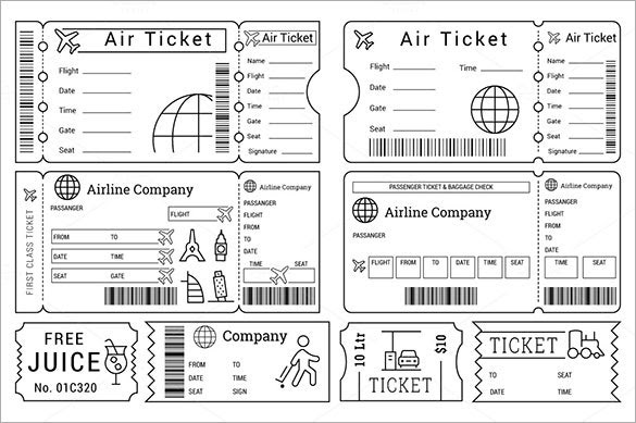 Ticket Template – 91+ Free Word, Excel, PDF, PSD, EPS Formats ...