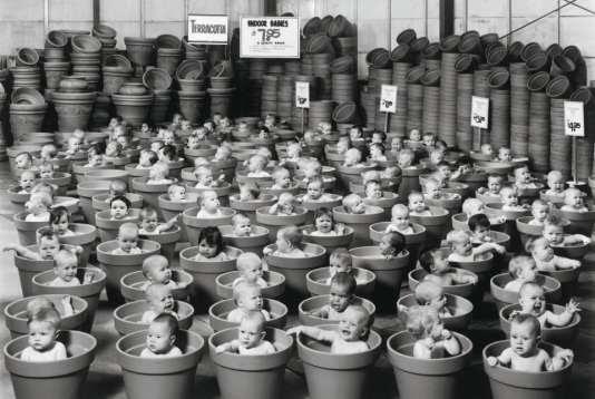 «123 Pots», bébés âgés de 6 à 7 mois, Auckland, 1992. Image extraite du livre «Small World», d'Anne Geddes, publié par Taschen (2017).