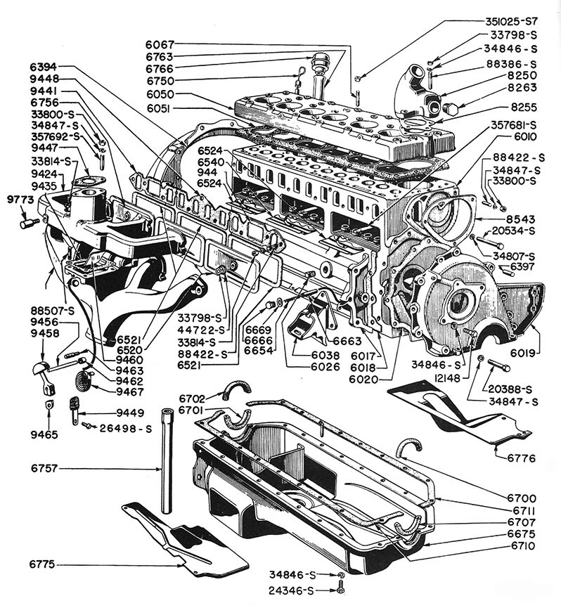Ford 6 Cylinder Engine Diagram