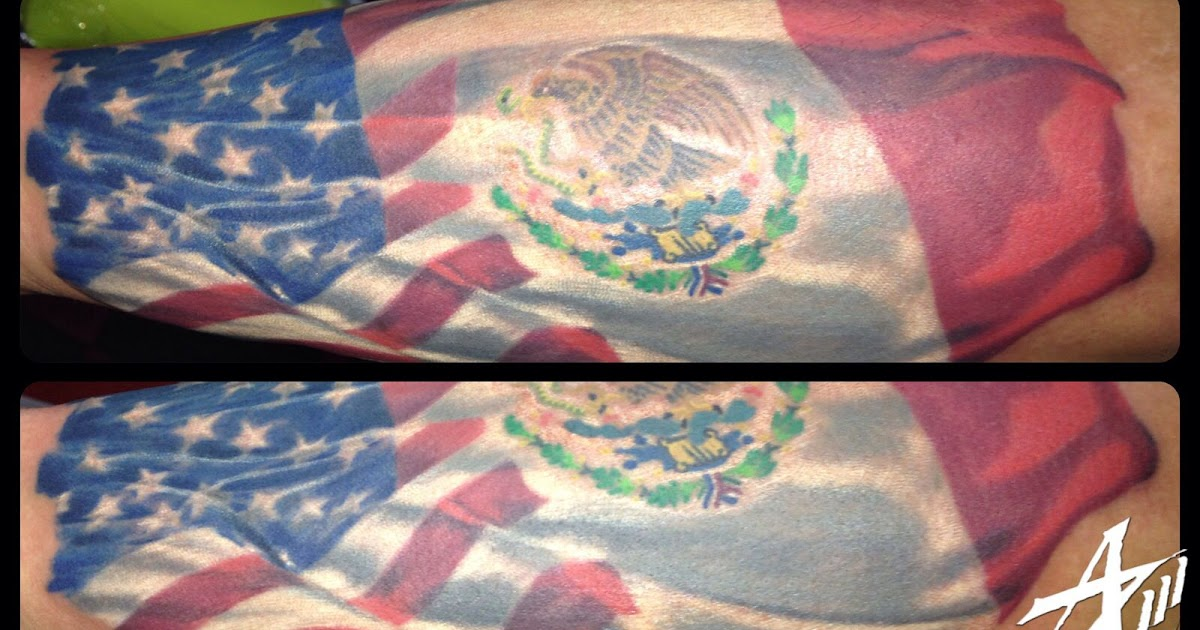 Latest HD Mexico Flag Outline Tattoo - cool wallpaper