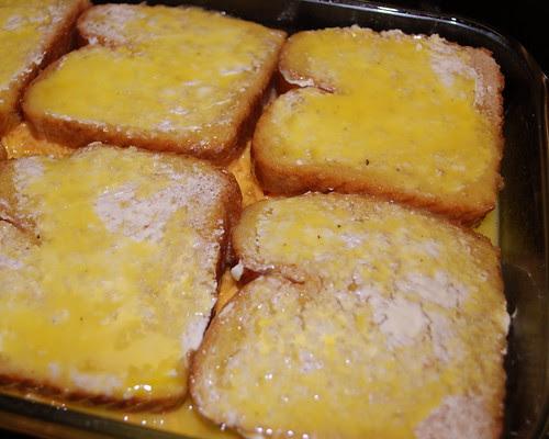 Breakfast Casserole ready for fridge