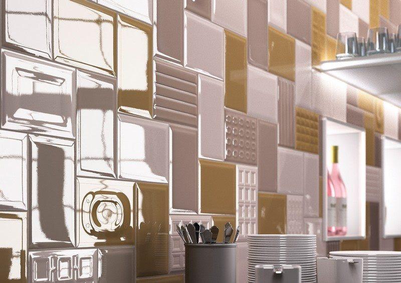 Fliesenspiegel in der Küche - Ideen mit Patchwork Mustern