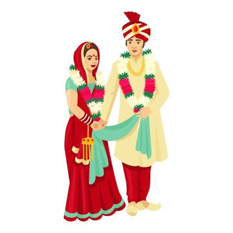 Best Indian Wedding Illustrations, Royalty Free Vector