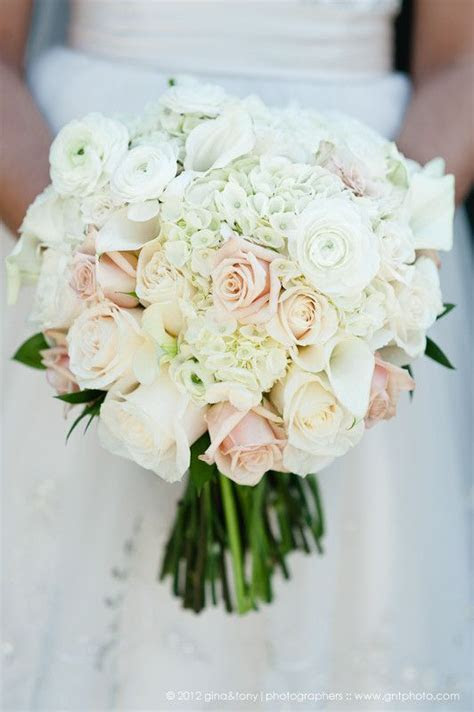 White, ivory and champagne bridal bouquet   perfect with