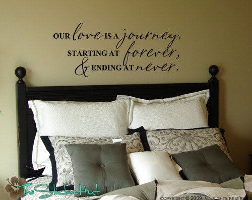 Our Love is a Journey Quote Saying Vinyl Wall Art by ...