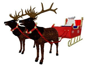 Elk Sleigh Set in RWX for use in Active Worlds Universes