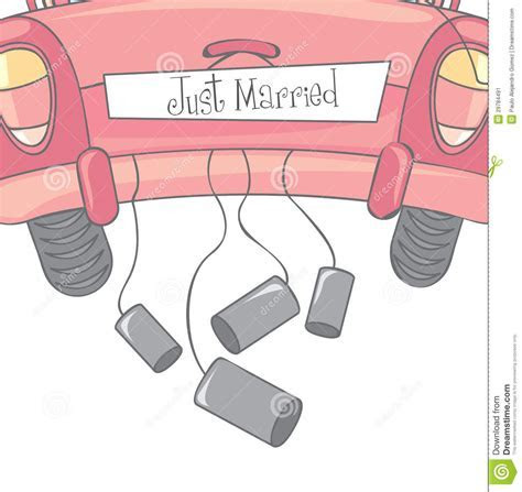 Just married stock vector. Image of just, bridal, graphic
