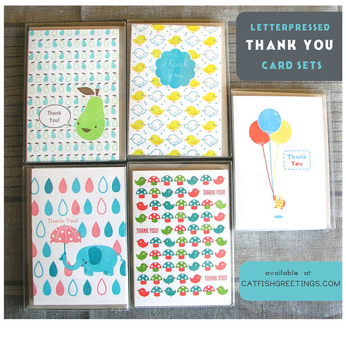 letterpressed thank you cards