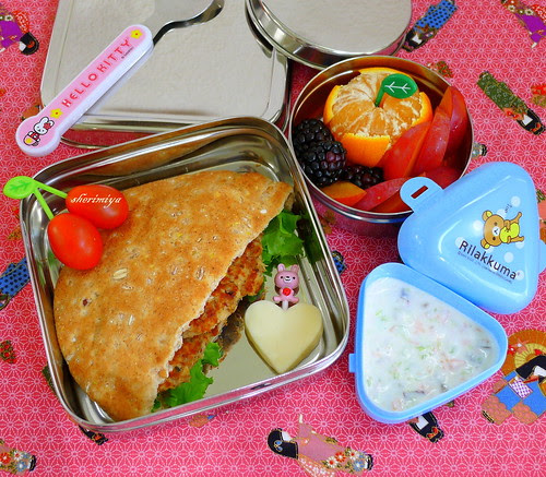 Salmon Burger Pocket EcoLunchbox Bento by sherimiya ♥
