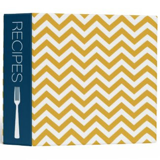 CHEVRON STRIPES | RECIPE BINDER