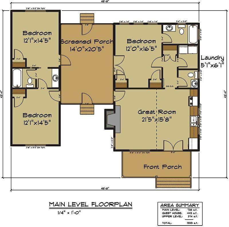 Dog Trot Floor Plans House Plan
