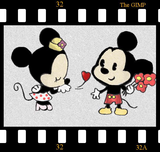 Dibujos De Amor De Mickey Mouse Y Minnie Imagui
