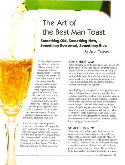 Art of the Best Man Toast ? Modern Gentleman