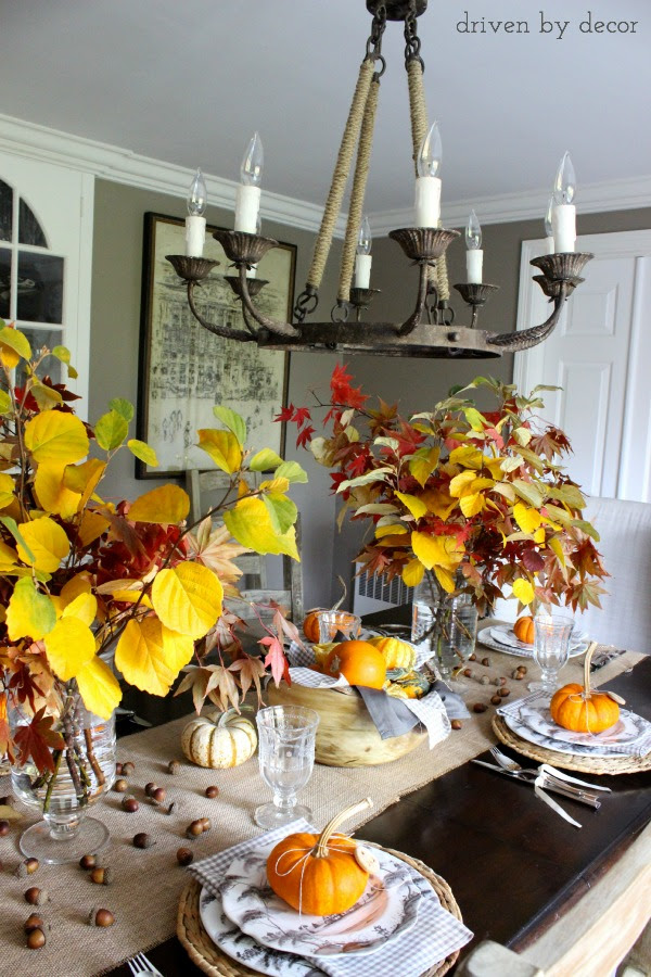 Driven by Decor - Table set for Thanksgiving