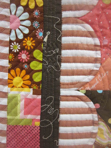 """The Candy Shop"" by Miyuki Hamaba, close up quilting"
