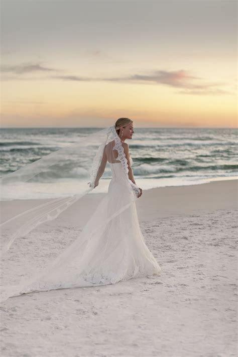 Rosemary Beach Wedding Photographer, cathedral veil, beach