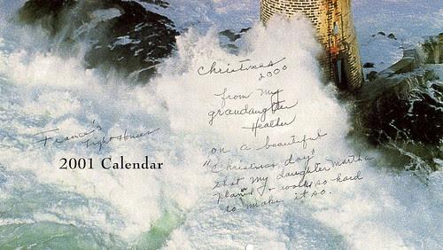 2001 Calendar by midgefrazel