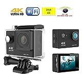 Eken H9 Wifi Action Camera (Black), 4K10fps + 170 Degree Lens + 2-Inch Screen by EKEN [並行輸入品]