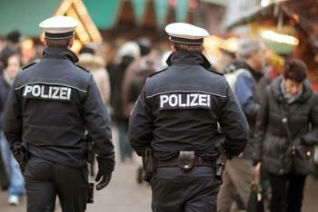 Police at the German Christmas Markets