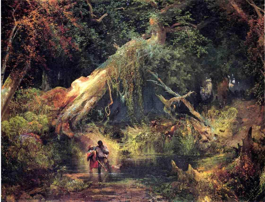 Thomas Moran Paintings Dismal Swamp
