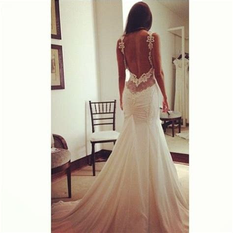 Wedding dress  love the open back and detail   Wedding