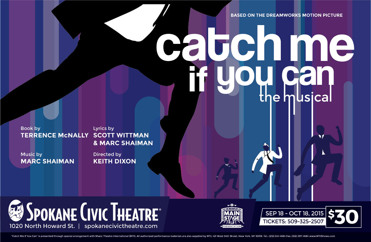 Poster Reveal 1 Catch Me If You Can Spokane Civic Theatre