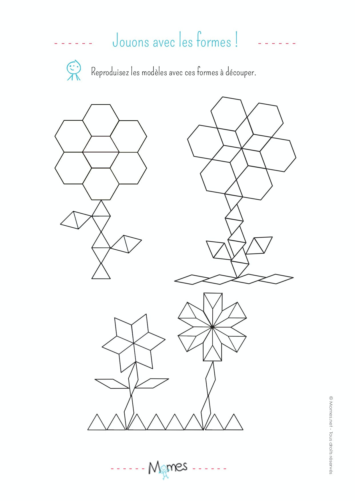 Dessus coloriage formes geometriques imprimer imprimer et obtenir une coloriage gratuit ici - Coloriage geometrique ...