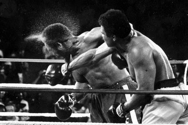 Mohamed Alí vs. George Foreman en 1974.  Foto:AP