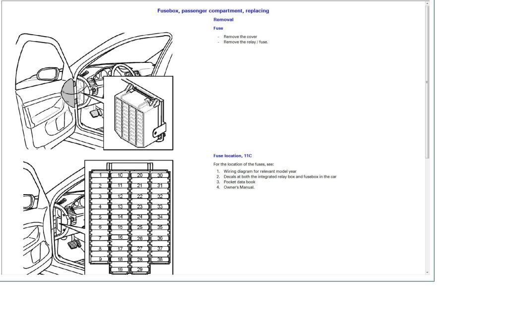 Circuit Electric For Guide  2004 Volvo S40 Fuse Box Diagram