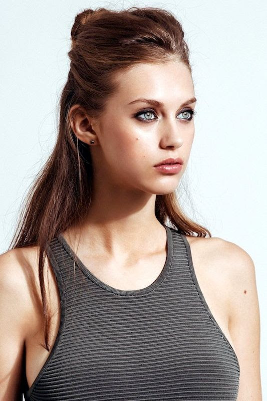 Le Fashion Blog 5 Easy Hairstyles For When You're Short On Time Lazy Girl Hair Half Up Top Knot Smokey Eye Beauty Ribbed Tank Dress Via Refinery29