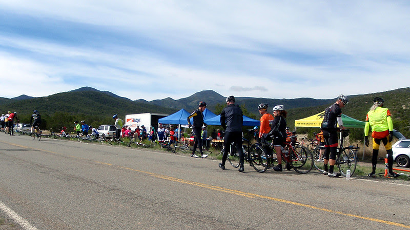 Heartbreak Hill aid station is fueling hungry riders.