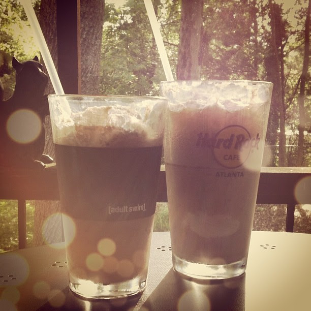 I had a black cow and Raoul had a root beer float.